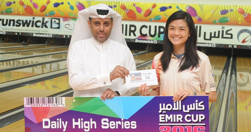 Daphne Tan shoots 300 to take the early lead in H.H. Emir Cup 2016