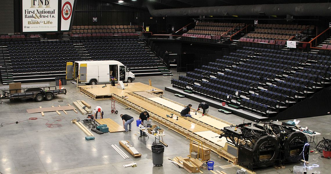 FireLake Arena undergoes transformation for Sunday's live ESPN TOC finals