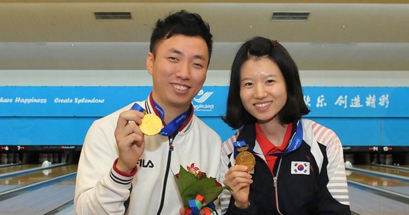 Son Yun Hee, Wu Siu Hong win East Asian Games Masters titles