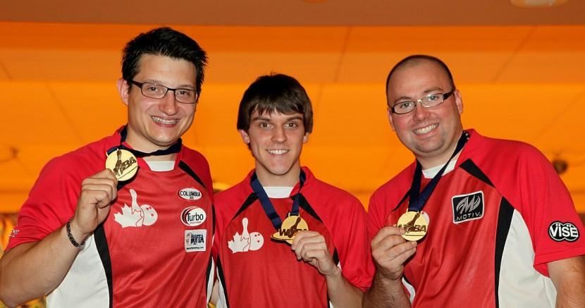 Canadians Buffa, Lavoie, Girard win gold in Men's Trios