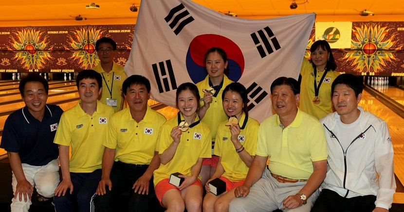 Korea comes from behind to win gold in Women's Trios