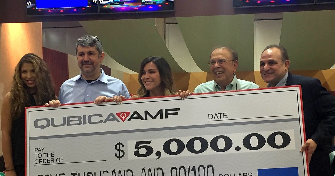 Lucky Bowl Expo attendee wins $5,000 in QubicaAMF contest