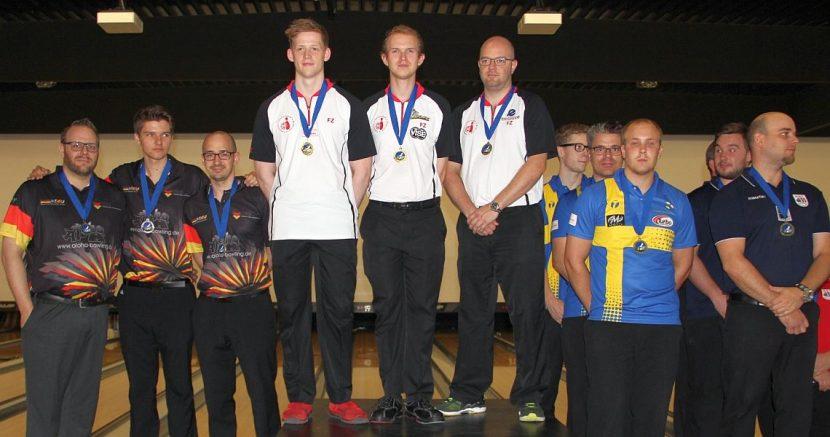Denmark escapes a couple close calls to win gold in Trios