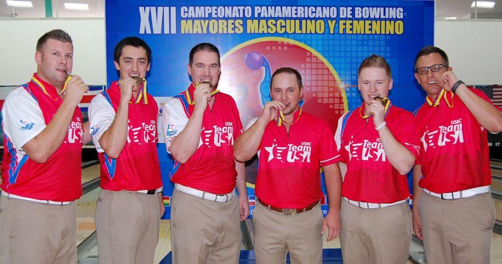2016 PABCON Team champion United States - from left, John Szczerbinski, Marshall Kent, Sean Rash, Ronnie Russell, AJ Chapman and Rob Gotchall.