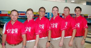 Team USA - from left, Ronnie Russell, AJ Chapman, Rob Gotchall, Sean Rash, John Szczerbinski and Marshall Kent.