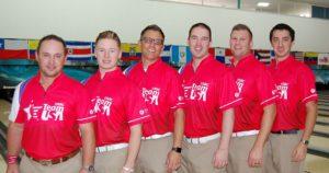 Team USA - from left, Ronnie Russell, AJ Chapman, Rob Gotchall, Sean Rash, John Szczerbinski and Marshall Kent.