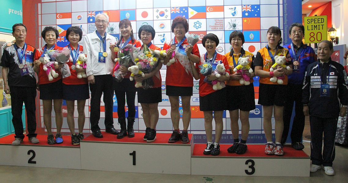 Korea sweeps Asian Seniors Championship doubles titles