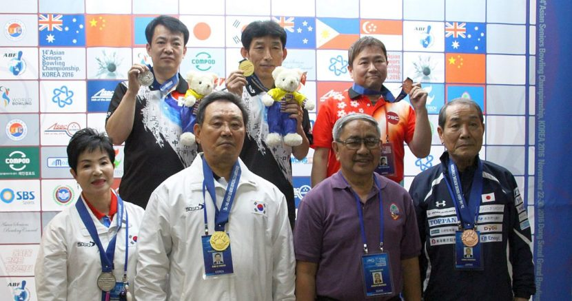 Japan, Korea share the medals in Singles at 14th Asian Seniors Championship