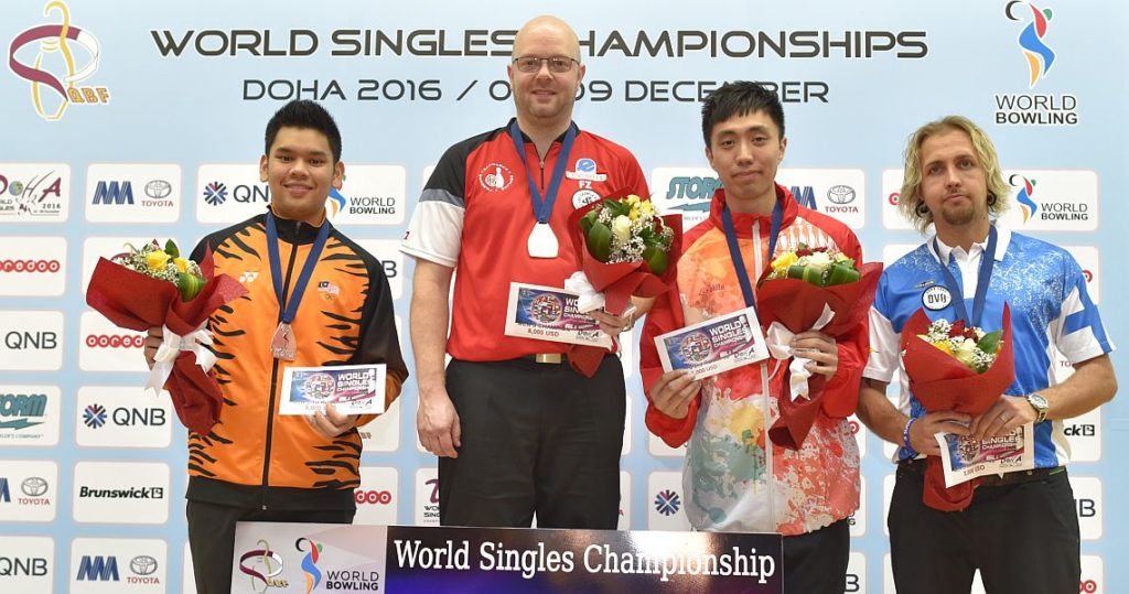 From left: Rafiq Ismail (silver), Jesper Agerbo (gold), Michael Mak and Joonas Jähi (bronze).