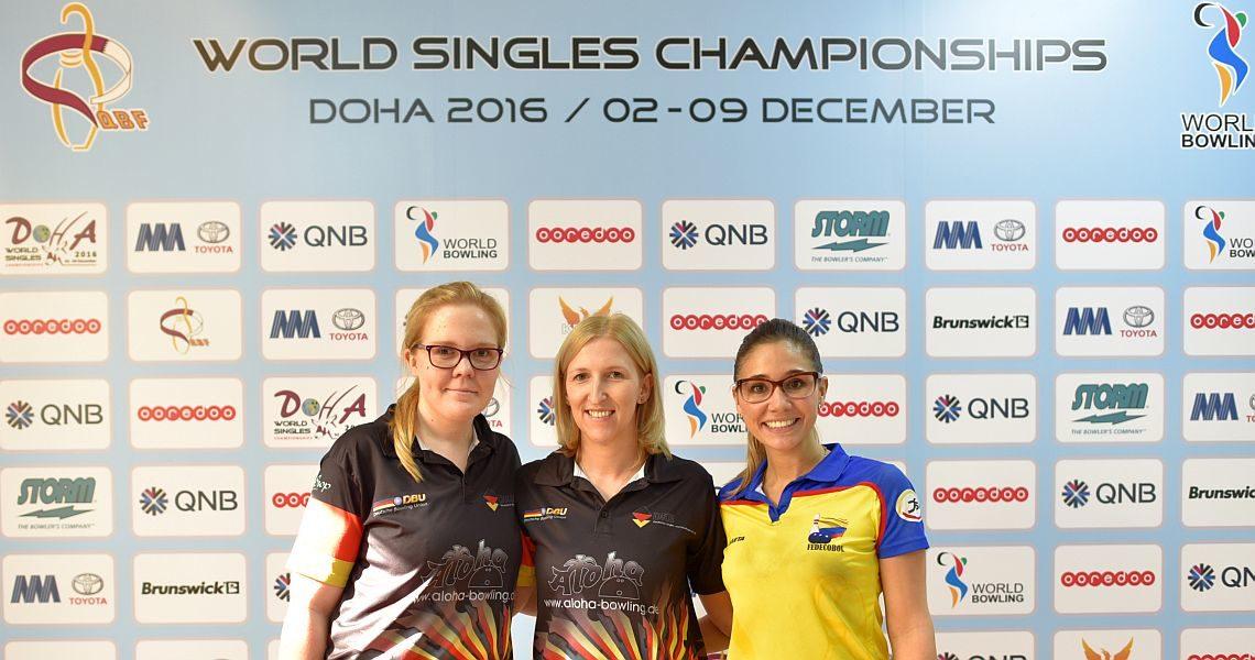 Germany's Pöppler, Beuthner set the tone in Women's World Singles Championships