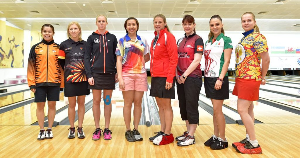 From left: Esther Cheah, Malaysia; Birgit Pöppler, Germany; Britt Brøndsted, Denmark; Lara Posadas, Philippines; Kelly Kulick, United States; Tanya Cuva, Switzerland; Sandra Góngora, Mexico; and Nadezda Korablinova, Russia.