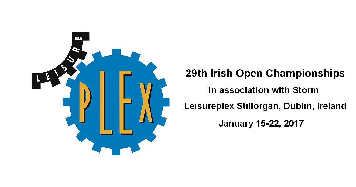 29th Irish Open Championships to start on Sunday, Jan. 15