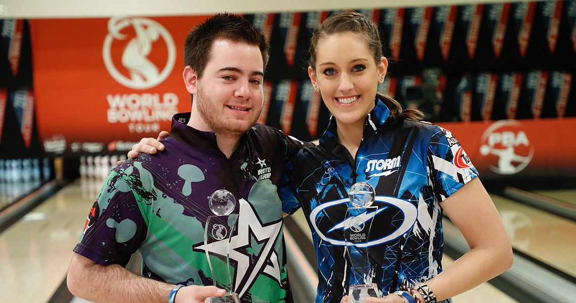 Anthony Simonsen, Danielle McEwan win World Bowling Tour finals