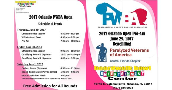 PWBA Orlando Open Pro-Am to benefit Paralyzed Veterans