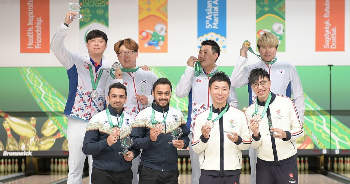 Korea sweeps gold and silver in Men's Doubles in Turkmenistan