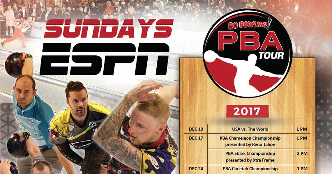 PBA's 38th year of ESPN coverage begins Sunday, December 10