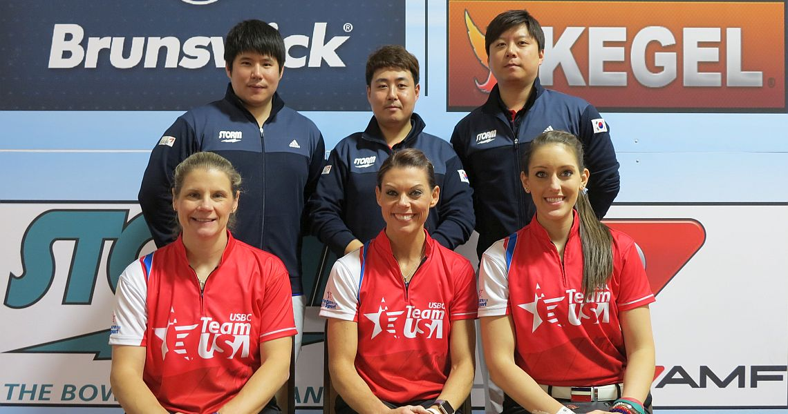 Korean men, USA women surge into lead in Trios after Squad 1