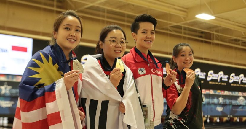 Jung Dawun sweeps Sin Li Jane to defend Women's Masters title