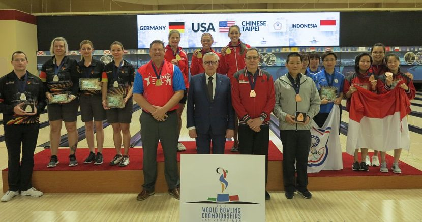 USA beats Germany to win gold medal in Women's Trios at World Championships