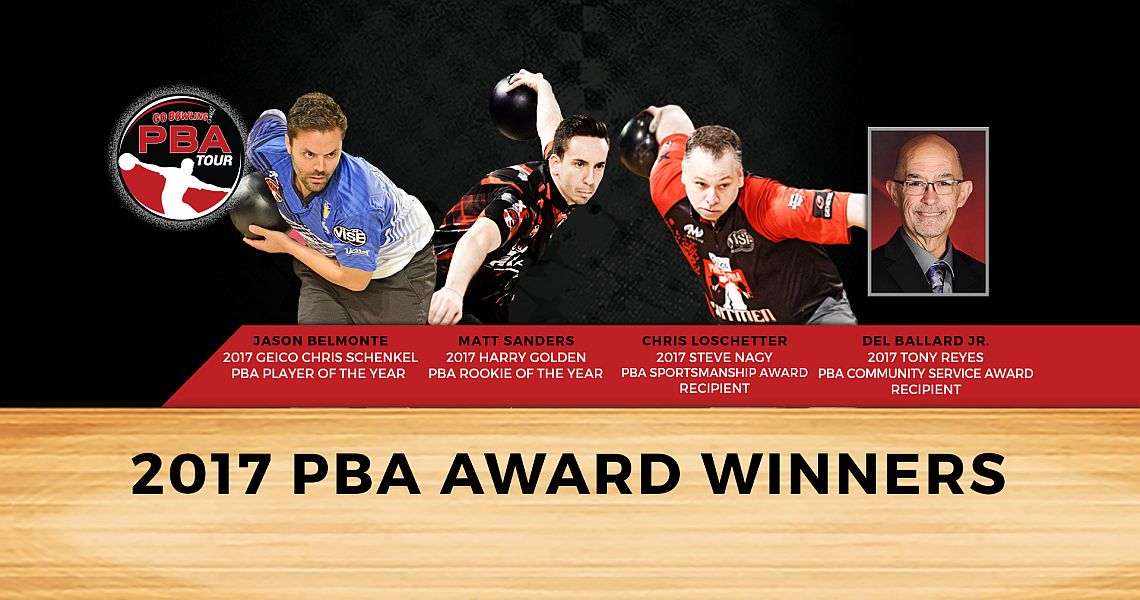Jason Belmonte races away with 2017 GEICO PBA Player of the Year Award