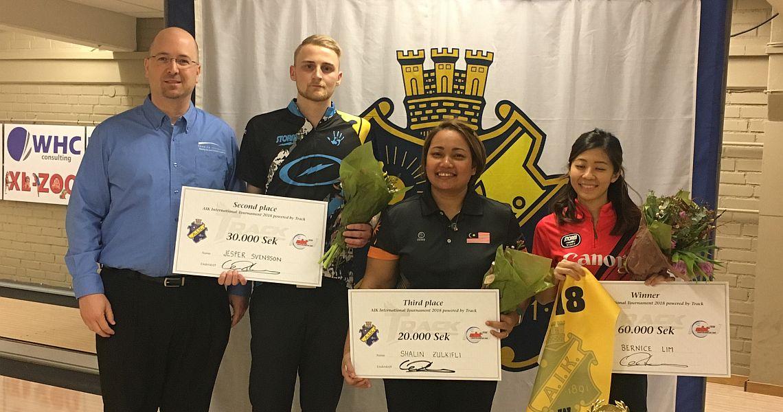 Bernice Lim defeats Jesper Svensson to win AIK International Tournament