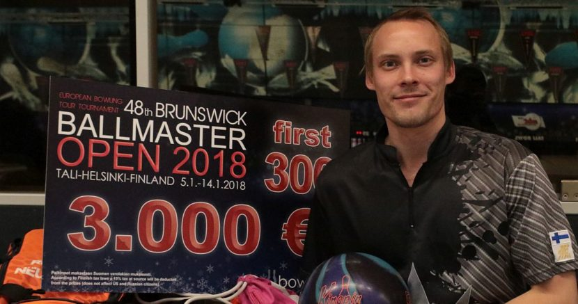 Timi Taalas shoots first 300 in Ballmaster Open, earns 3.000 Euro bonus