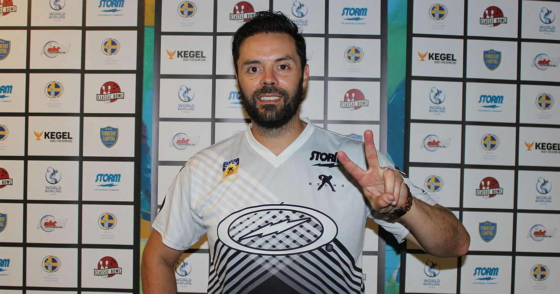 Defending champion Jason Belmonte shoots into lead in Malmö, Sweden