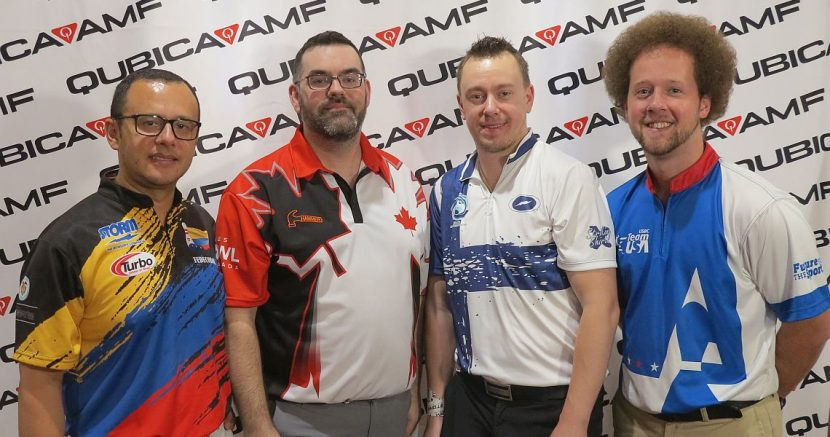 Canada's Ryan Reid rolls the first perfecto of the 54th Bowling World Cup