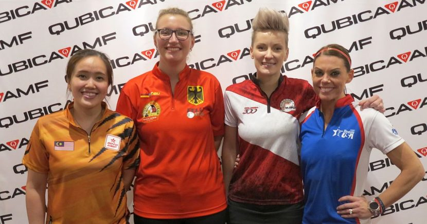 Latvia's Diana Zavjalova takes the early lead in Bowling World Cup