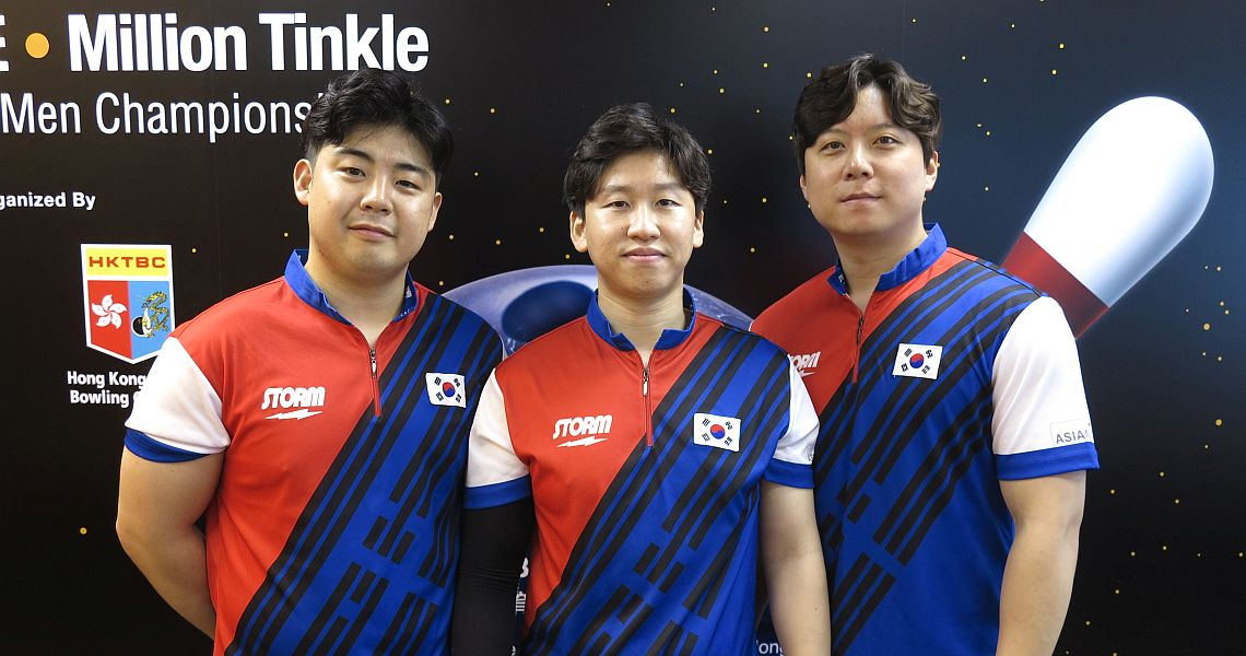 Strong finish propels South Korea into the lead in Trios at Men's Worlds