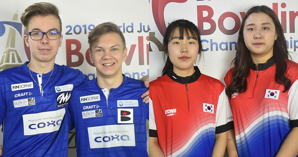 Finnish boys, Korean girls earn top seeds for WJBC Doubles semi-finals