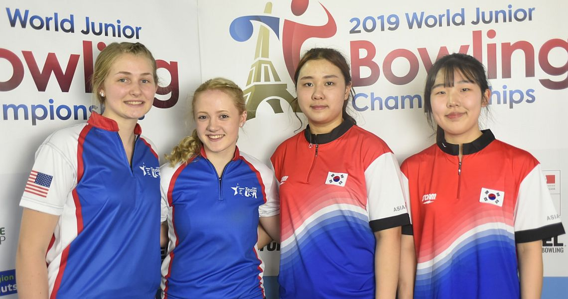 Korea and USA advance to both boys' and girls' Doubles gold medal matches